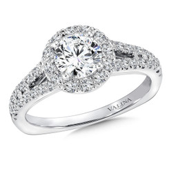 Valina Round Halo Engagement Ring R9434W