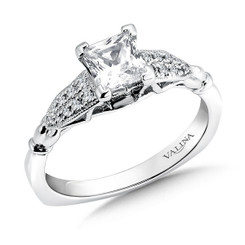 Valina Princess Cut Side Stone Engagement Ring R9435W