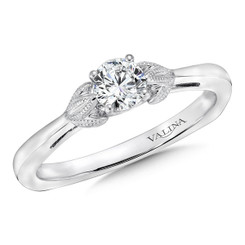 Valina Round Solitaire Engagement Ring R9436W-.33