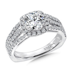 Valina Round Halo Engagement Ring R9439W