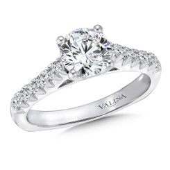 Valina Round Side Stone Engagement Ring R9443W