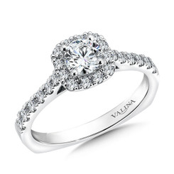 Valina Round Halo Engagement Ring R9451W