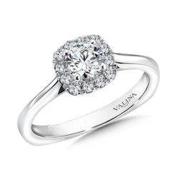 Valina Round Halo Engagement Ring R9452W