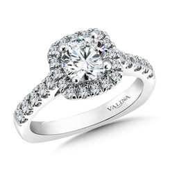 Valina Round Halo Engagement Ring R9453W