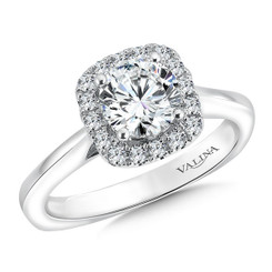 Valina Round Halo Engagement Ring R9454W