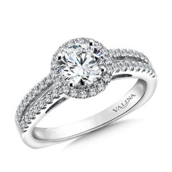 Valina Round Halo Engagement Ring R9469W