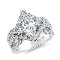 Valina Marquise 3 Stone Engagement Ring R9476W