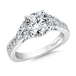Valina Round Side Stone Engagement Ring R9479W