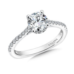 Valina Round Side Stone Engagement Ring R9483W