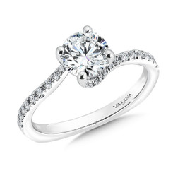 Valina Round Criss Cross Engagement Ring R9491W