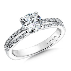 Valina Round Split Shank Engagement Ring R9494W