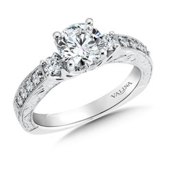 Valina Round 3 Stone Engagement Ring R9499W