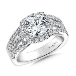 Valina Round Halo Engagement Ring R9503W