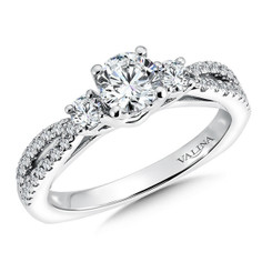 Valina Round 3 Stone Engagement Ring R9507W