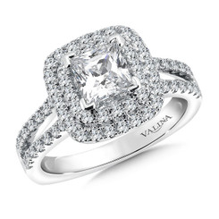 Valina Princess Cut Halo Engagement Ring R9512W