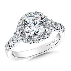 Valina Round Side Stone Engagement Ring R9513W