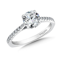 Valina Round Side Stone Engagement Ring R9519W