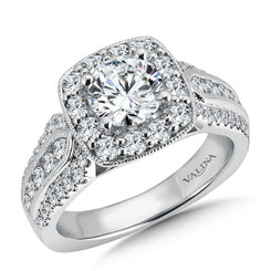 Valina Round Halo Engagement Ring R9520W