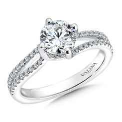Valina Round Criss Cross Engagement Ring R9533W