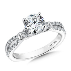 Valina Round 3 Stone Engagement Ring R9534W