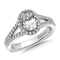 Valina Oval Shape Halo Engagement Ring R9535W