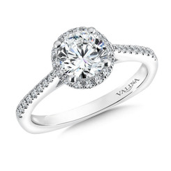 Valina Round Halo Engagement Ring R9541W