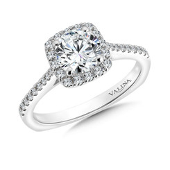 Valina Round Halo Engagement Ring R9542W