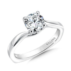 Valina Round Solitaire Engagement Ring R9546W