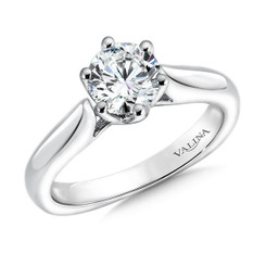 Valina Round Solitaire Engagement Ring R9548W