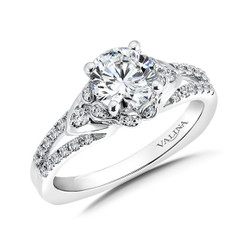 Valina Asscher Cut Halo Engagement Ring R9553W