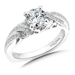 Valina Round Side Stone Engagement Ring R9567W
