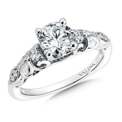 Valina Round Side Stone Engagement Ring R9570W