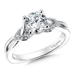 Valina Round Solitaire Engagement Ring R9571W