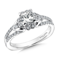 Valina Princess Cut Solitaire Engagement Ring R9573W