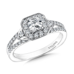 Valina Asscher Cut Solitaire Engagement Ring R9575W