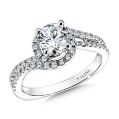 Valina Round Solitaire Engagement Ring R9579W