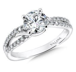 Valina Round Solitaire Engagement Ring R9580W