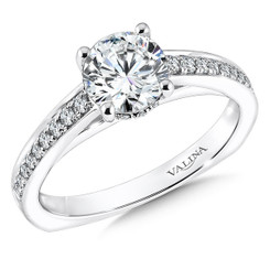 Valina Round Solitaire Engagement Ring R9581W