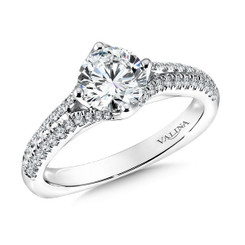 Valina Round Solitaire Engagement Ring R9583W