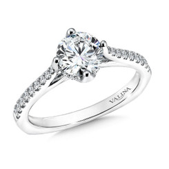 Valina Round Solitaire Engagement Ring R9585W