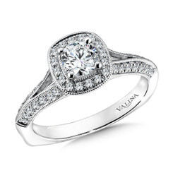 Valina Round Solitaire Engagement Ring R9586W