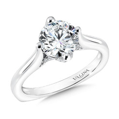 Valina Round Solitaire Engagement Ring R9587W
