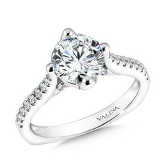Valina Round Solitaire Engagement Ring R9588W