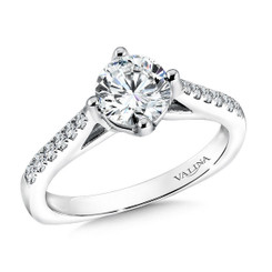 Valina Round Solitaire Engagement Ring R9589W