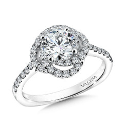 Valina Round Solitaire Engagement Ring R9591W