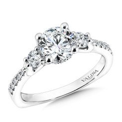 Valina Round Solitaire Engagement Ring R9594W