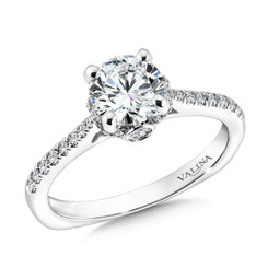 Valina Round Solitaire Engagement Ring R9595W