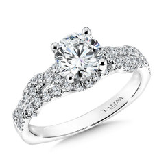 Valina Round Solitaire Engagement Ring R9598W