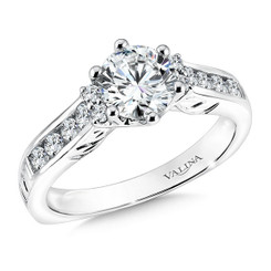 Valina Round Solitaire Engagement Ring R9602W