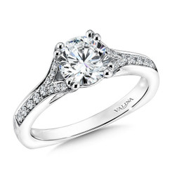 Valina Round Solitaire Engagement Ring R9603W